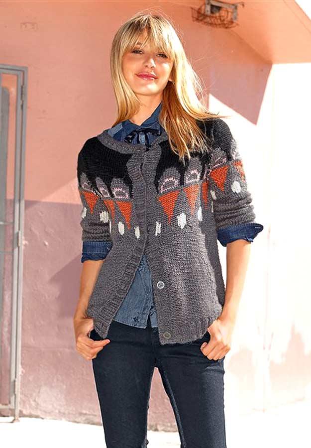 5b98184ca0ebf6 Fuga swetr damski kolorowy wełna ...
