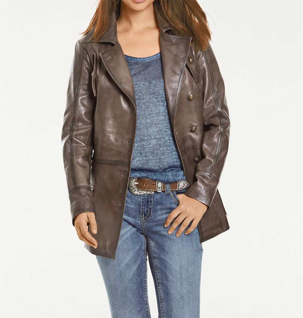 brązowa skórzana kurtka damska stylizacje