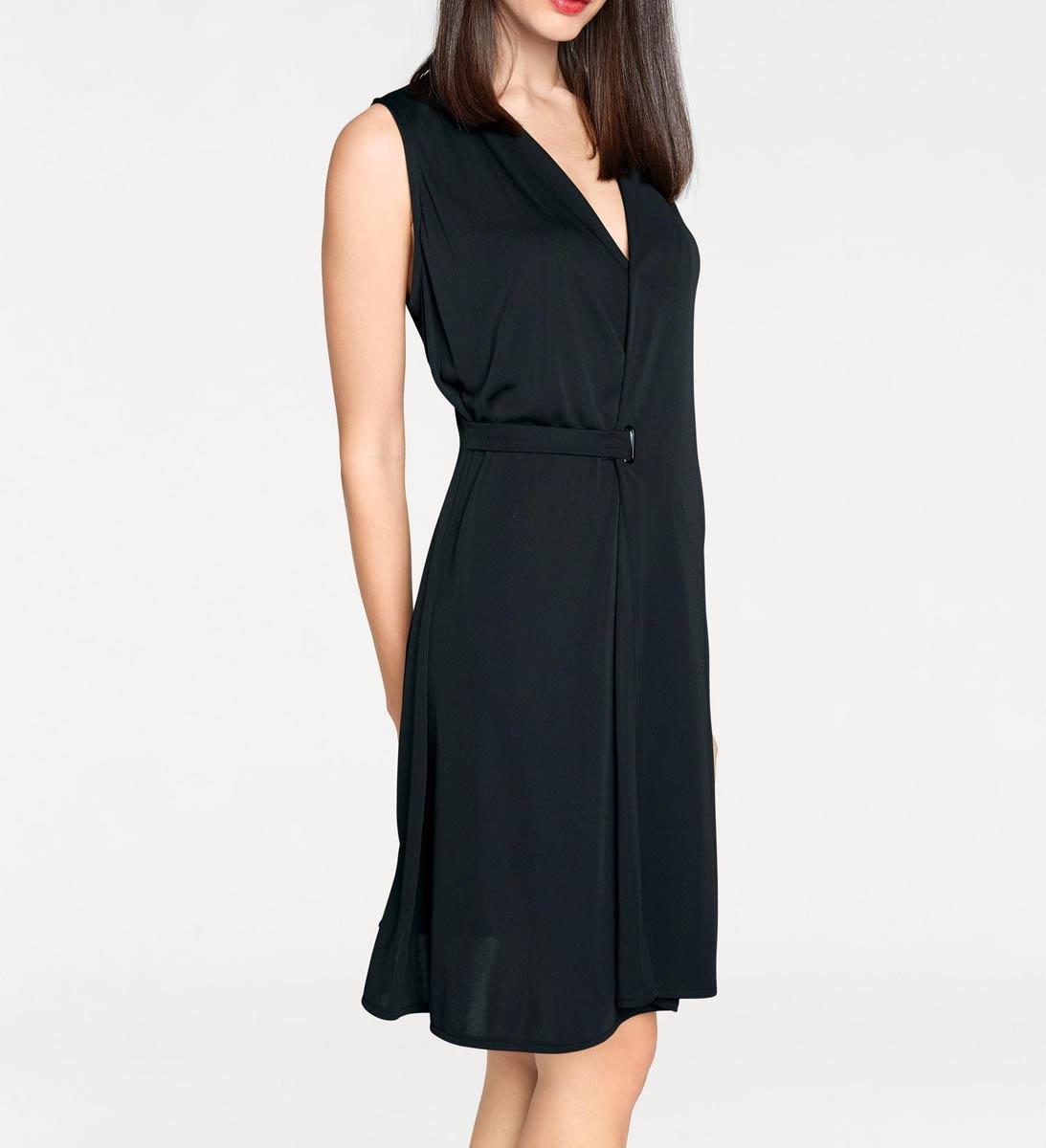 17f071566c Rick Cardona elegancka sukienka bez rękawów